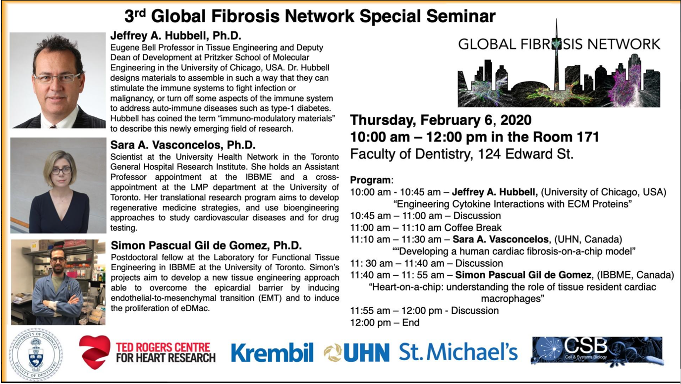 3rd Special Seminar of the Global Fibrosis Network Seminar Series | University of Chicago @ Faculty of Dentistry, Room 171