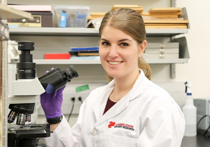 Portrait of Bailey Bernknopf in a lab